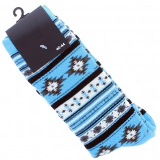 ASR Outdoor Adventure Wilderness Socks One Size Fits Most Southwest Pattern Blue
